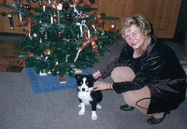 [Mille and her mum at Christmas]